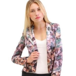 Aryn K abstract kaleidoscope blazer